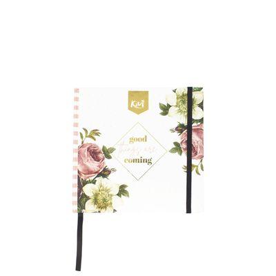 Cuaderno-Kiut-Forever-Diferenciado-Cuadrado-Flores-Vintage