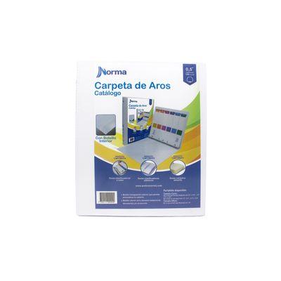 CARPETAS-DE-AROS-PASTA-CATALOGO-BLANCA-CARTA-0.5-REDONDO-3-AROS