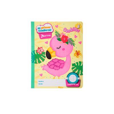 Cuaderno-Norma-Mi-Primer-Cuaderno-B-Flamingo-Tropical