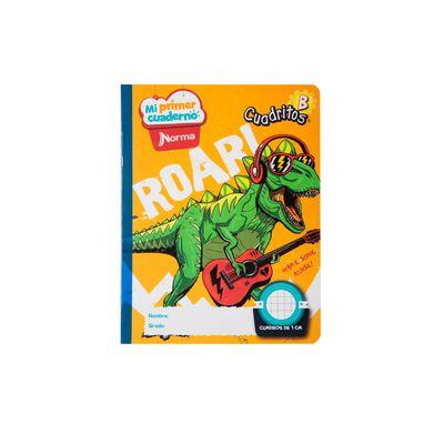 Cuaderno-Norma-Mi-Primer-Cuaderno-B-Dinosaurio-Rockero