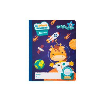 Cuaderno-Norma-Mi-Primer-Cuaderno-C-Jirafa-Espacial