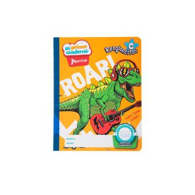 Cuaderno-Norma-Mi-Primer-Cuaderno-C-Dinosaurio-Rockero
