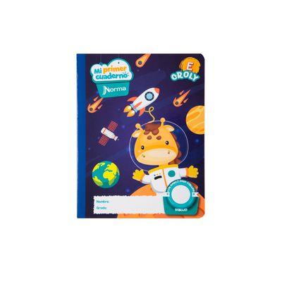 Cuaderno-Norma-Mi-Primer-Cuaderno-E-Croly-Jirafa-Espacial