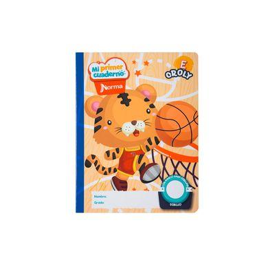 Cuaderno-Norma-Mi-Primer-Cuaderno-E-Croly-Tigre-Basketbolista