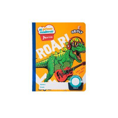 Cuaderno-Norma-Mi-Primer-Cuaderno-E-Croly-Dinosaurio-Rockero