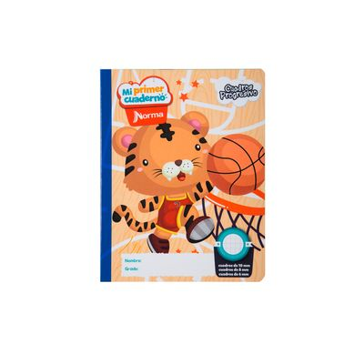 Cuaderno-Norma-Mi-Primer-Cuaderno-Progresivo-Tigre-Basketbolista