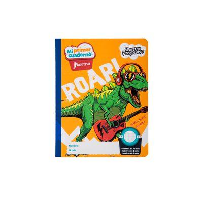 Cuaderno-Norma-Mi-Primer-Cuaderno-Progresivo-Dinosaurio-Rockero